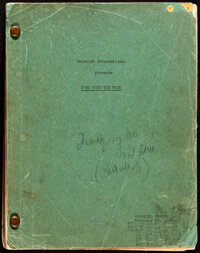 Gone with the Wind by Margaret Mitchell and Sidney Howard (Selznick International, 1939). Fine. Shooting Script (521 Pag...