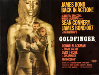 "Goldfinger (United Artists, 1964). Very Fine- on Linen. Full-Bleed British Quad (30"" X 40"")"