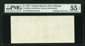 Error Notes:Blank Reverse (100%), Missing Back Printing Error Fr. 1909-G $1 1977 Federal Reserve Note. PMG About Uncirculated 55 EPQ.. ...