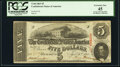 Confederate Notes:1863 Issues, T60 $5 1863 PF-27 Cr. 464 PCGS Extremely Fine 45.. ...