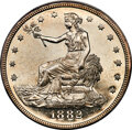 1882 T$1 PR62+ Cameo PCGS. The depth of mirroring in the fields of this Plus-graded proof is spectacular, no doubt contr...