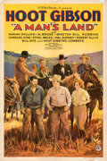 "Movie Posters:Western, A Man's Land (Allied Pictures, 1932). Fine/Very Fine on Linen. One Sheet (27.5"" X 41"").. ..."
