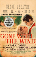Movie Posters:Academy Award Winners, Gone with the Wind (MGM, 1940). Fine+. Window Card...