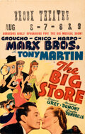 Movie Posters:Comedy, The Big Store (MGM, 1941). Very Fine-. Window Card...