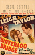 Movie Posters:War, Waterloo Bridge (MGM, 1940). Fine+. Window Card (1...
