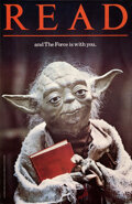 "Movie Posters:Science Fiction, Star Wars: READ...and The Force is with You (American Library Association, 1983). Rolled, Very Fine+. Library Poster (22"" X ..."