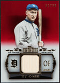 Baseball Cards:Singles (1970-Now), 2013 Topps Tribute Retired Remnants Ty Cobb Bat Relic Card #RR-TC - Serial Numbered 3/10....