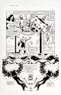 Original Comic Art, Jim Starlin and Al Milgrom Infinity Abyss #6 Story Page 23 Thanos Original Art (Marvel, 2002)....