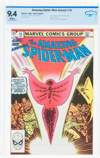 The Amazing Spider-Man Annual #16 (Marvel, 1982) CBCS NM 9.4 White pages