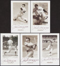 Baseball Cards:Sets, 1993 Pinnacle Joe DiMaggio Certified Autograph Complete Set (5)....