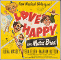 """Movie Posters:Comedy, Love Happy (United Artists, 1949). Folded, Very Fine. Six Sheet (79"""" X 80.25""""). Comedy.. ..."""