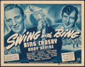 """Movie Posters:Sports, Swing with Bing (Universal, 1940). Fine+. Title Lobby Card (11"""" X 14""""). Sports.. ..."""