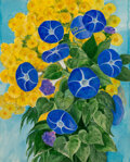 Works on Paper, George Grammer (American, 1928-2019). Morning Glories. Watercolor and acrylic on paper. 17 x 13-5/8 inches (43.2 x 34.6 ...