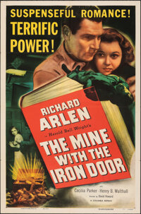 "The Mine with the Iron Door (Columbia, R-1952). Folded, Very Fine. One Sheet (27"" X 41""). Western"