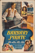 """Movie Posters:Swashbuckler, Barbary Pirate & Other Lot (Columbia, 1949). Folded, Fine/Very Fine. One Sheets (2) (27"""" X 41"""") & French Moyenne (23.5"""" X 31... (Total: 3 Items)"""