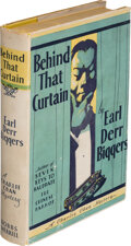 Books:Mystery & Detective Fiction, Earl Derr Biggers. Behind That Curtain. Indianapolis: The Bobbs-Merrill Company, [1928]. First edition....