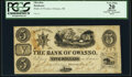 Obsoletes By State:Michigan, Owasso, MI- Bank of Owasso $5 18__ Remainder PCGS Apparent Very Fine 20.. ...