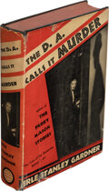Books:Mystery & Detective Fiction, Erle Stanley Gardner. The D. A. Calls it Murder. New York: William Morrow and Company, 1937. First edition....