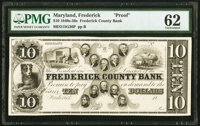Frederick, MD- Frederick County Bank $10 18__ G36 Shank 51.6.16 P Proof PMG Uncirculated 62