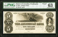 Washington, DC- Arlington Bank $5 185_ as G4 Proof PMG Choice Uncirculated 63