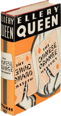 Ellery Queen. The Chinese Orange Mystery. New York: Frederick A. Stokes, 1934. First edition