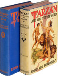 Books:Science Fiction & Fantasy, Edgar Rice Burroughs. Two copies of Tarzan and the City of Gold. Tarzana: Burroughs, [1933-1934]. First and second e... (Total: 2 Items)