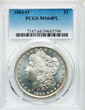 Morgan Dollars: , 1883-O $1 MS64 Prooflike PCGS. PCGS Population: (773/203). NGC Census: (553/136). CDN: $116 Whsle. Bid for NGC/PCGS MS64. M...
