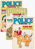 Golden Age (1938-1955):Superhero, Police Comics Group of 10 (Quality, 1945-46) Condition: Average FN.... (Total: 10 Comic Books)