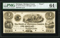 Obsoletes By State:Michigan, Michigan Centre, MI- Bank of Michigan Centre $2 18__ as G4 Lee MIC-1-2 Proof PMG Choice Uncirculated 64 EPQ.. ...