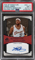 Basketball Cards:Singles (1980-Now), 2005 SP Signature LeBron James (Authentic Signatures) #AS-LJ PSA NM 7, Auto 9....