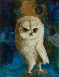 Paintings, Kelly Fearing (American, 1918-2011). Little Owl of the Rock of Mallorca. Oil on Masonite. 13-3/4 x 10-1/2 inches (34.9 x...