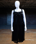 Textiles, Rei Kawakubo (Japanese, b. 1942) and Comme des Garçons (Japanese, founded 1973). Black Chiffon Dress With Bows, 2011. Po...