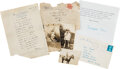 Books:Manuscripts, A. A. Milne. Letter signed. London, March 15, 1925....
