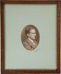 Books:Photography, [A. A. Milne]. Signed photographic portraits of A. A. Milne and E. H. Shepard. No place, no date [but ca. 1920s].... (Total: 2 )
