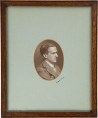 [A. A. Milne]. Signed photographic portraits of A. A. Milne and E. H. Shepard. No place, no date [but ca. 1920s]