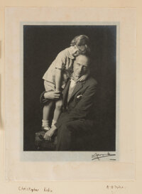 [A. A. and Christopher Robin Milne]. Madame Yevonde. Photographic portraits of Christopher Milne with his father, A. A...