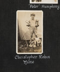 "Books:Children's Books, [Christopher Robin Milne]. Photo album. ""Ballards,"" Forest Row, Sussex, no date [but ca. late 1920s - 1943]. Rare photogra..."