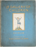 "Books:Signed Editions, A. A. Milne. A Gallery of Children. London: Stanley Paul & Co., [1925]. First edition. Inscribed and signed, ""Fo..."