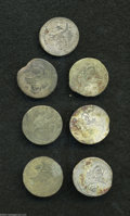 Egypt: , Egypt: Mahmud II Billon 20 Para 1223AH, KM174, a date collectioncomprising regnal years 1-6-7-8-9-10-11, with some date readingsq... (Total: 7 coins Item)