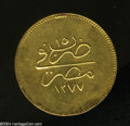 Egypt: , Egypt: Abdul Aziz gold 500 Piastres 1277AH Year 15, KM265, XF,sharply struck details. The reverse surfaces have been expertlyrepa...