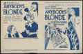"Movie Posters:Drama, Anybody's Blonde Lot (Action Pictures, 1931). Herald (6"" X 9.5"""")and Two Other Heralds. Drama.... (Total: 3 Items)"