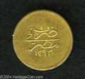 Egypt: , Egypt: Murad V gold 100 Piastres 1293AH Year 1, KM272, very raretype for this short reign. Nice XF with mint luster and extremely...
