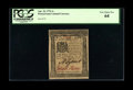 Colonial Notes:Pennsylvania, Pennsylvania April 25, 1776 1s PCGS Very Choice New 64....