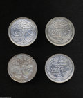 Egypt: , Egypt: British Occupation 20 Piastres 1916-1917, KM321, 1916, AUand choice AU-UNC, and 1917 lightly dipped XF, plus KM322 1917H,V... (Total: 4 coins Item)