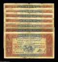 Egypt: , Egypt: Pound 1924 - Lot of Seven, P18, Hornsby. A small caravan ofcamels including: H/8 About Fine, H/21 VG-F, H/23 Fine, bit fade...(Total: 7 notes Item)