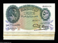 Egypt: , Egypt: 50 Piastres 1942-1951 Date Collection, nine notes including:P21b-c Nixon signature (5), P21d Leith-Ross (2), and P21e Saad ...(Total: 9 notes Item)