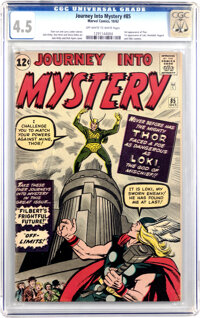 Journey Into Mystery #85 (Marvel, 1962) CGC VG+ 4.5 Off-white to white pages