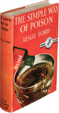 Books:Mystery & Detective Fiction, Leslie Ford. The Simple Way of Poison. Published for The Crime Club, London: Collins, 1938. ...