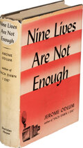 Books:Mystery & Detective Fiction, Jerome Odlum. Nine Lives are Not Enough. New York: Sheridan House, [1940]. First edition....