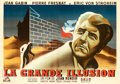 """Movie Posters:Foreign, La Grande Illusion (R.A.C., R-1944). Very Fine+ on Linen. Horizontal French Double Grande (91.25"""" X 63"""") Hervé Morvan Artwor..."""